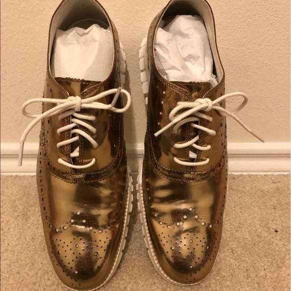Cole Haan Shoes | Mens Gold Zero Grand
